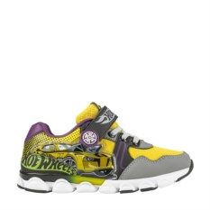 Серо-желтые кроссовки на липучке и шнурках Hot Wheels