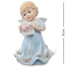 Музыкальная фигурка Ангелочек в синем платье