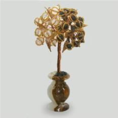 Дерево из шунгита и лунного камня Инь Янь