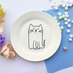 Фарфоровая тарелка Киска