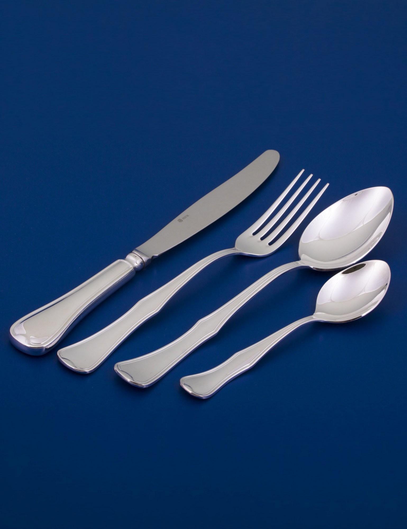 Серебряный набор столового серебра Эгоист № 14