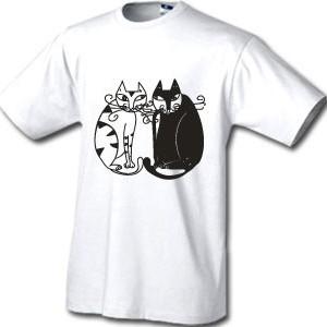 Футболка «Чёрная кошка, белый кот»