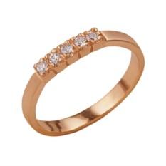 Позолоченное кольцо со вставкой из фианитов