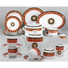 Чайно-столовый сервиз Версаче серии Сабина