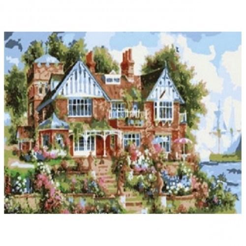 Картина-раскраска по номерам на холсте Особняк