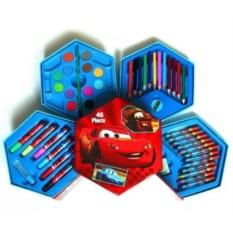 Художественный набор из 46 предметов Тачки
