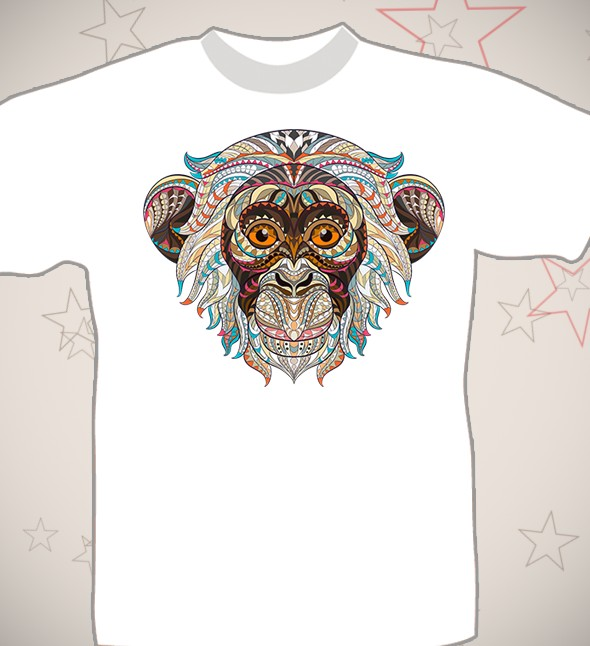 Подарочная футболка «Обезьяна»