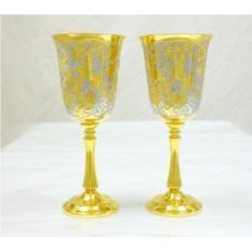 Золотые бокалы с калибри