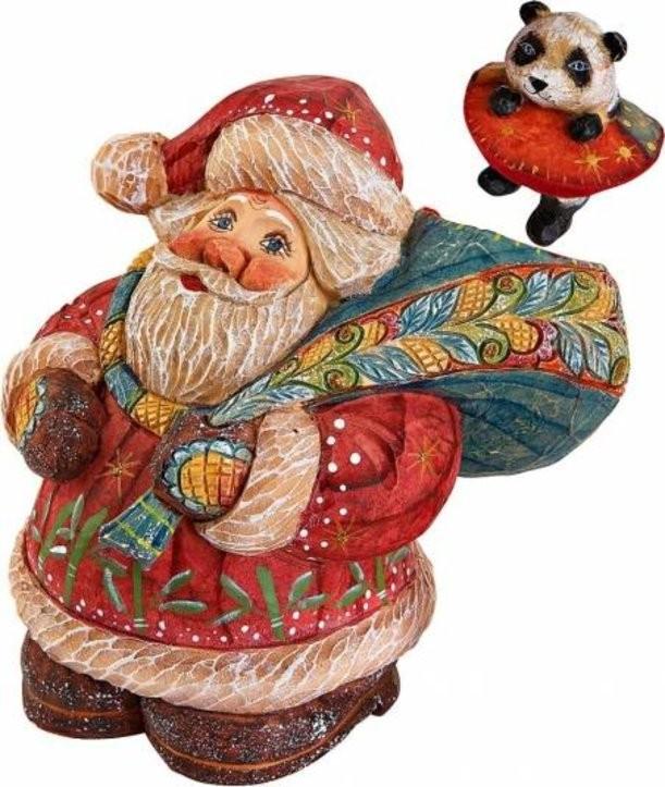 Новогодняя коллекционная игрушка Дед Мороз с подарками