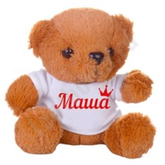 Именная мягкая игрушка Королевский медвежонок