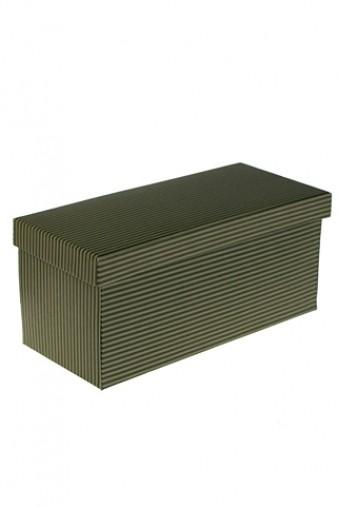 Коробка подарочная Элегант зеленая 22.8*10.2*10.2см