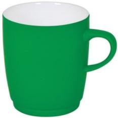 Зеленая кружка Soft с прорезиненным покрытием