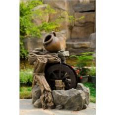 Декоративный фонтан для сада Водяная мельница