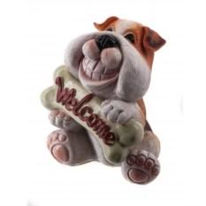 Декоративная фигурка Собака бульдог Welcome