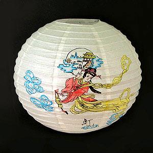 Фонарь подвесной с рисунком «Девушка»