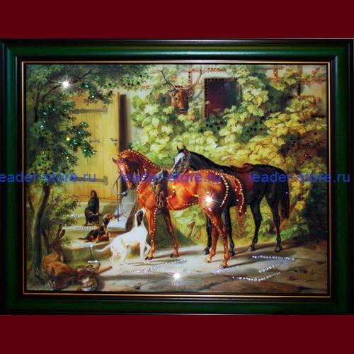 Картина Swarovski Дом охотника