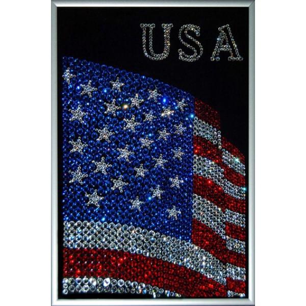 Картина с кристаллами Swarovski Флаг USA