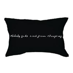 Наволочка «Пока спишь, не разбогатеешь»