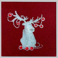 Картина Swarovski «Рождественский олень»