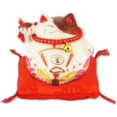 Японский кот-копилка Манеки-неко Благополучие!
