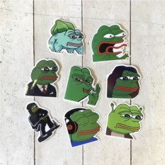 Набор наклеек Sad Pepe the Frog