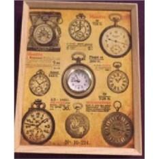 Настенные часы-коллаж