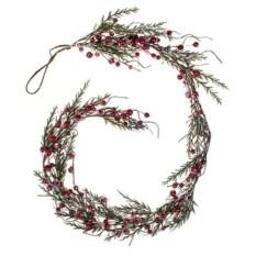 Декоративная гирлянда Веточки и красные ягодки