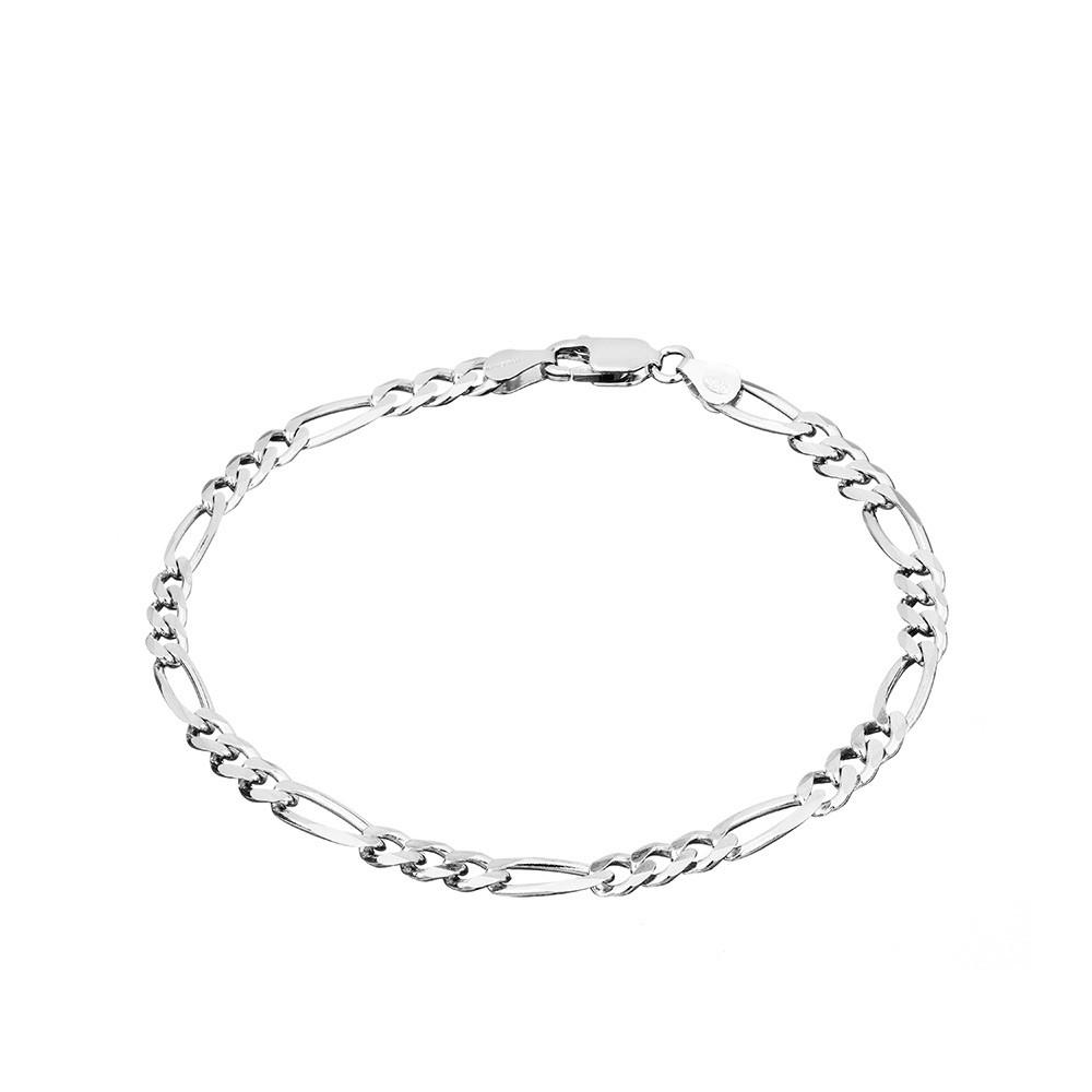 Мужской серебряный браслет с алмазными гранями