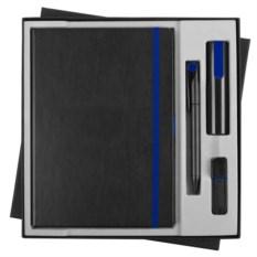 Черно-синий офисный набор Black maxi
