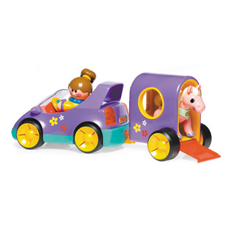 Машинка с прицепом для пони