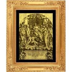 Гравюра из золота Юпитер, Орел, Ганимед