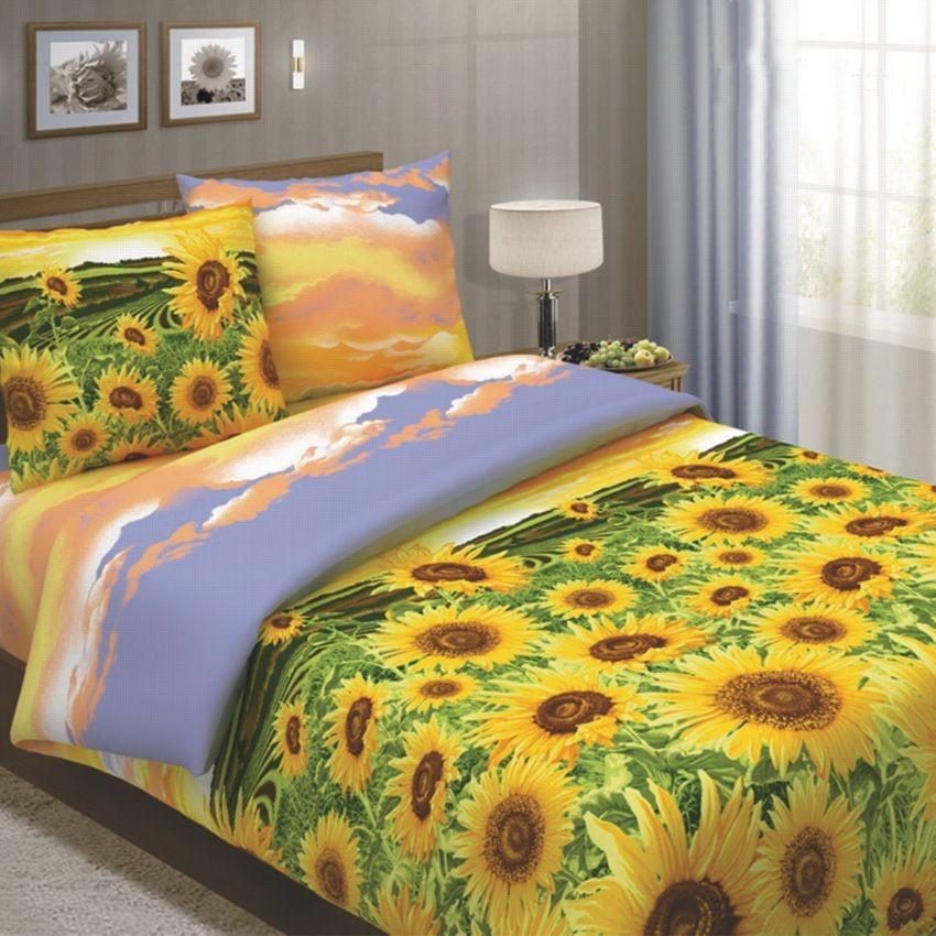 Комплект постельного белья Подсолнухи (1,5-спальный)