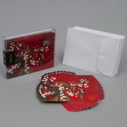 Набор дизайнерских открыток «Красные» с конвертами