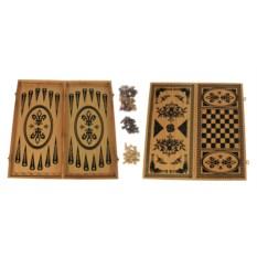 Настольная игра Нарды и шахматы, размер 40 х 20 см