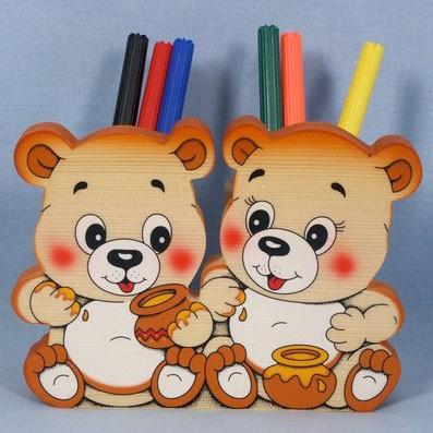 Подставка для карандашей двойная «Мишки»