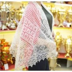 Оренбургский пуховый платок ручной работы (150х50 см)