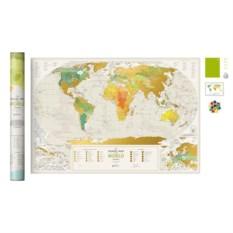 Скретч-карта мира Geography