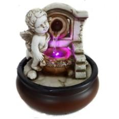 Настольный декоративный фонтан Купидон с подсветкой