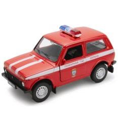 Модель машины 1:34-39 LADA 4x4 Пожарная охрана от Welly