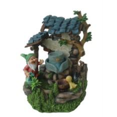 Декоративный фонтан «Гномик и утенок»