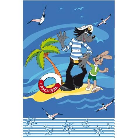 Комплект махровых полотенец «На острове!»