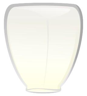 Небесный фонарик Белый конус