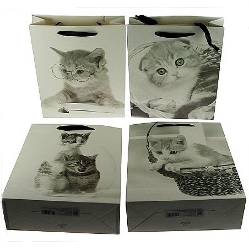 Пакет для подарка Котята в ассортименте