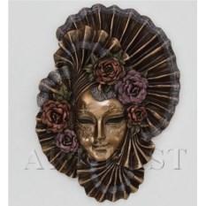 Венецианская маска Пионы (цвет: бронзовый)