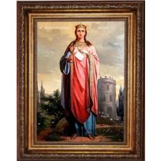 Икона на холсте Великомученица Варвара Илиопольская