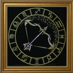 Картина с кристаллами Сваровски Стрелец