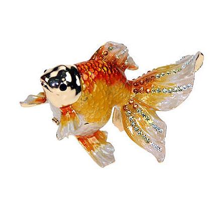Шкатулка со стразами «Золотая рыбка»