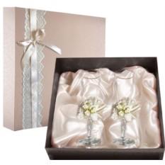 Набор свадебных бокалов в подарочной коробке Ретро №4