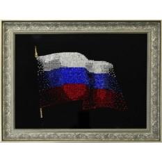 Картина с кристаллами Сваровски Флаг России
