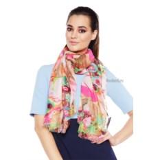 Женский шарф с бахромой и цветочным принтом Mario Spado